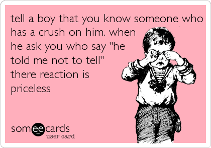 Signs that a boy has a crush on you