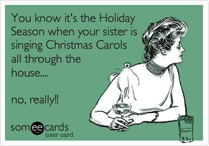 You know it's the Holiday