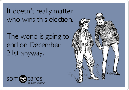 It doesn't really matter 