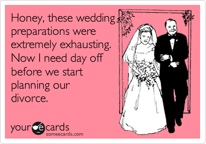 Honey, these wedding