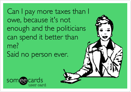 Can I pay more taxes than I