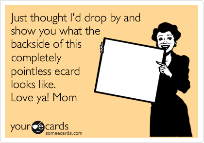 Just thought I'd drop by and