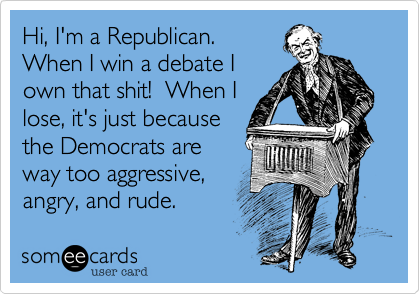 Hi, I'm a Republican.