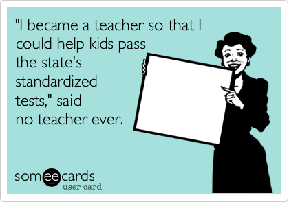 """I became a teacher so that I