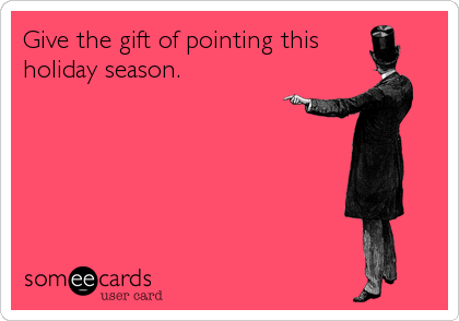 Give the gift of pointing this holiday season.