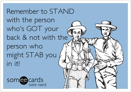 Remember to STAND 