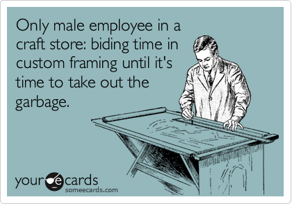Only male employee in a