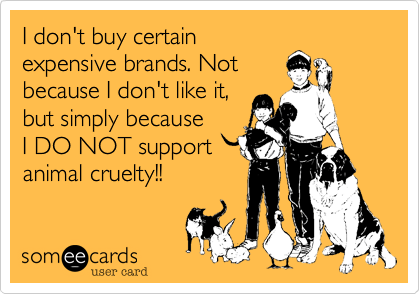 I do not buy certain