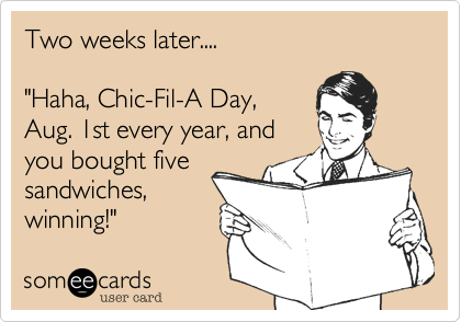 Two weeks later....