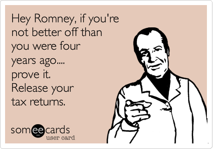 Hey Romney, if you're 