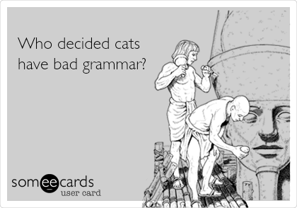 Who decided cats have bad grammar?