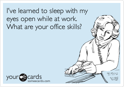 I've learned to sleep with my