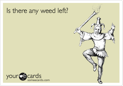 Is there any weed left?