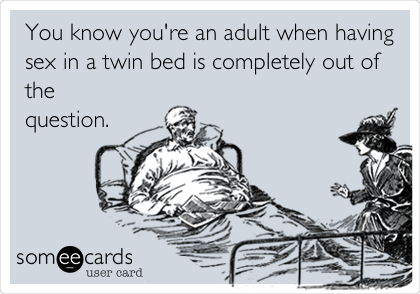 Sex in a twin bed