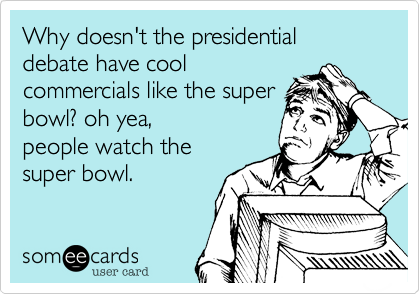 Why doesn't the presidential debate have cool