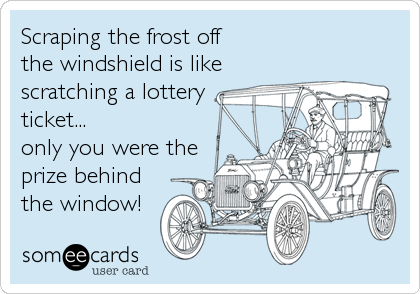 Scraping the frost off 