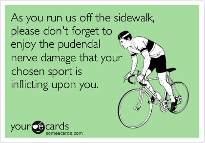 As you run us off the sidewalk, please don't forget to