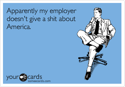 Apparently my employer