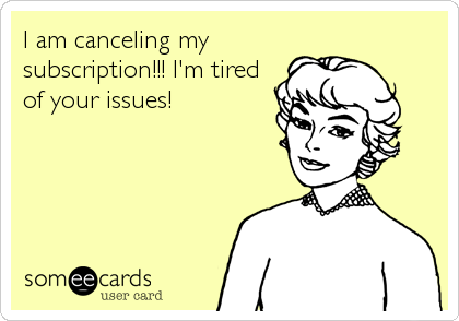 I am canceling my