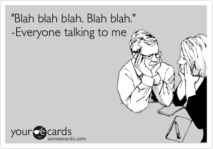 """Blah blah blah. Blah blah.""