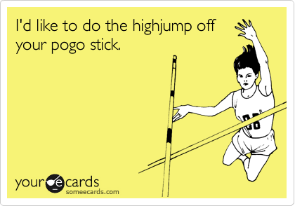 I'd like to do the highjump off