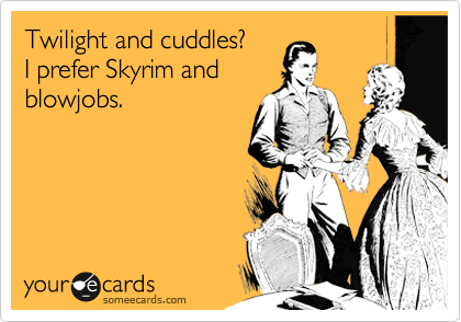 Twilight and cuddles?  