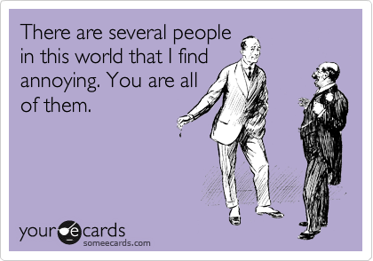 There are several people