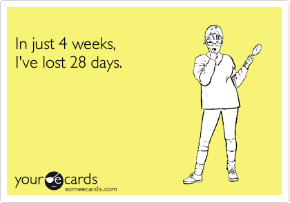 In just 4 weeks, 