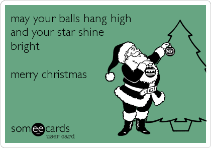 may your balls hang high  and your star shine bright  merry christmas