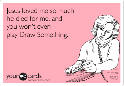 Jesus loved me so much 