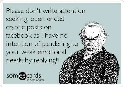 Please don't write attention 
