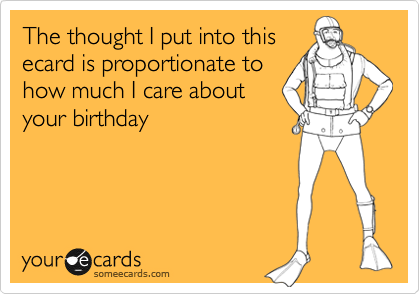 The thought I put into this