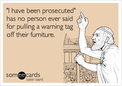 """I have been prosecuted""