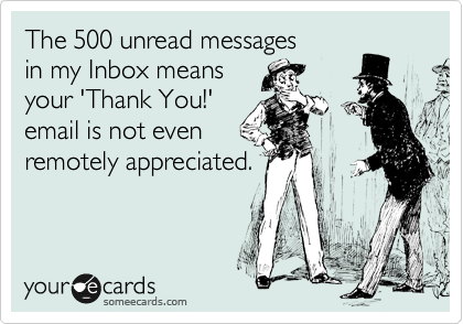The 500 unread messages 