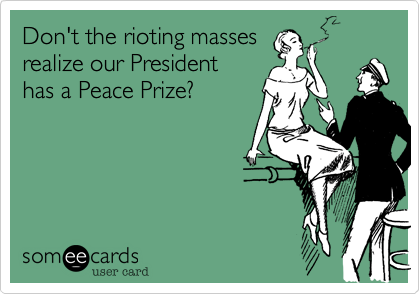 Don't the rioting masses