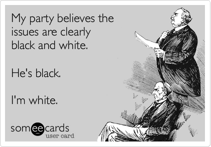 My party believes the