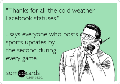 Funny Facebook Statuses About Cold Weather