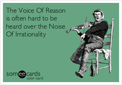 The Voice Of Reason  is often hard to be heard over the Noise Of Irrationality