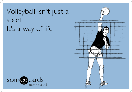 Volleyball isn't just a sport  It's a way of life
