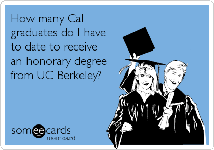 How many Cal graduates do I have  to date to receive  an honorary degree from UC Berkeley?