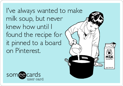 I've always wanted to make milk soup, but never knew how until I found the recipe for it pinned to a board on Pinterest.