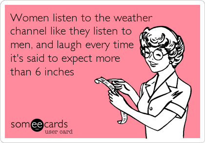 Women listen to the weather