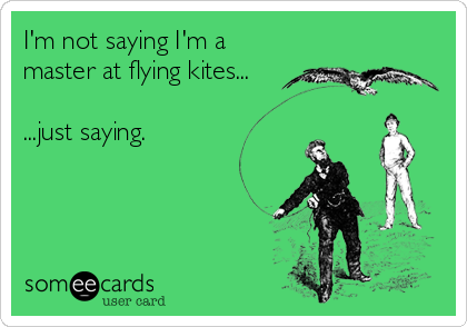 I'm not saying I'm a master at flying kites...  ...just saying.