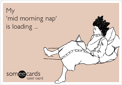 My 'mid morning nap'  is loading ...
