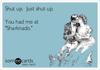 """Shut up.  Just shut up.  You had me at """"Sharknado."""""""