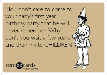 No I don't care to come to