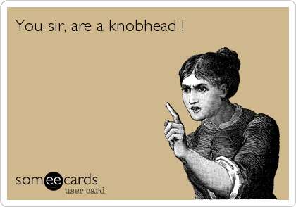 You sir, are a knobhead !