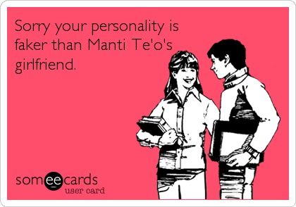 Sorry your personality is 