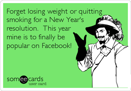 Forget losing weight or quitting