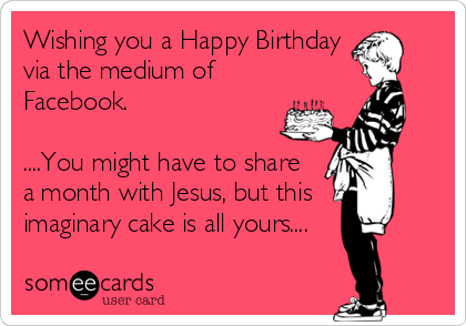 Wishing You A Happy Birthday Via The Medium Of Facebook